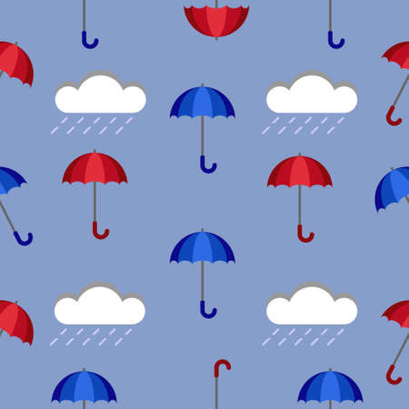Umbrella pattern. Bad weather concept. Clouds.