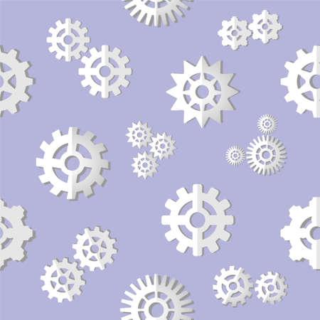 Gears pattern. Gears background. Vector illustration. 矢量图像