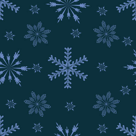 Winter hand drawn seamless pattern. Christmas and New Year theme.