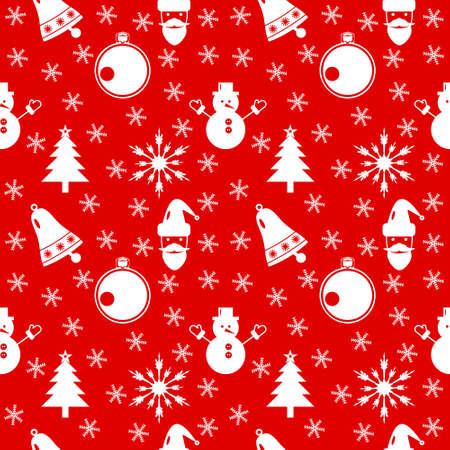 Christmas pattern. Happy New Year pattern.