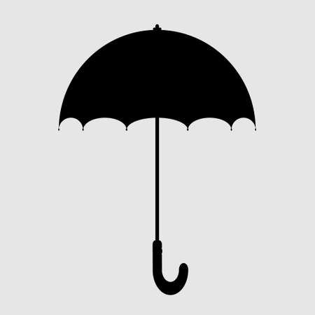 Silhouette of umbrella vector illustration concept isolate on white background.