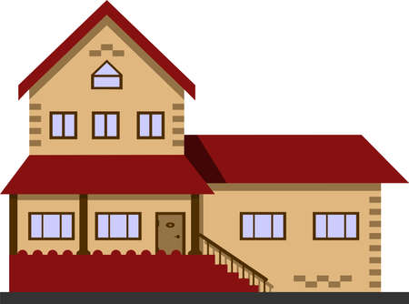 Cottage, house vector illustration concept isolate on white background.