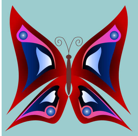 Beautiful colored butterfly. Vector illustration