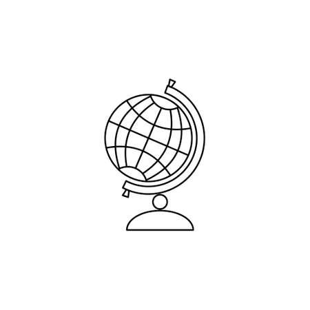 Globe, contour of the globe. Vector illustration.