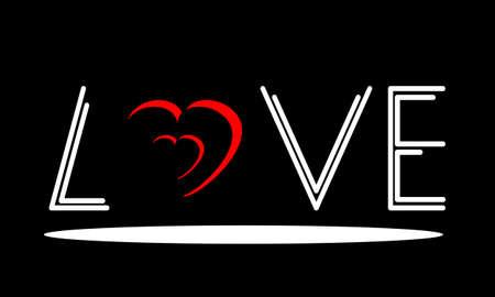 Love heart logo design. Valentines day love sign. Background of Valentines Day. Vector illustration.