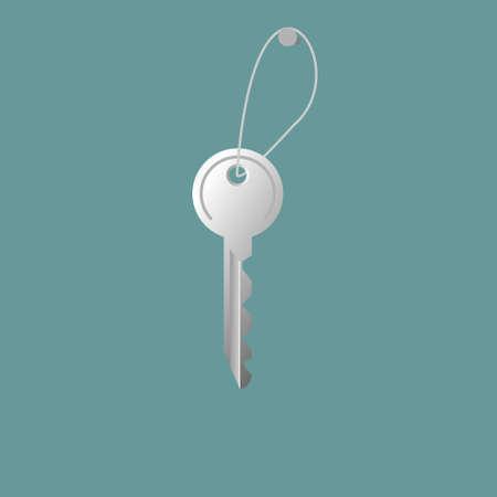 Key from door. Vector illustration concept. 矢量图像