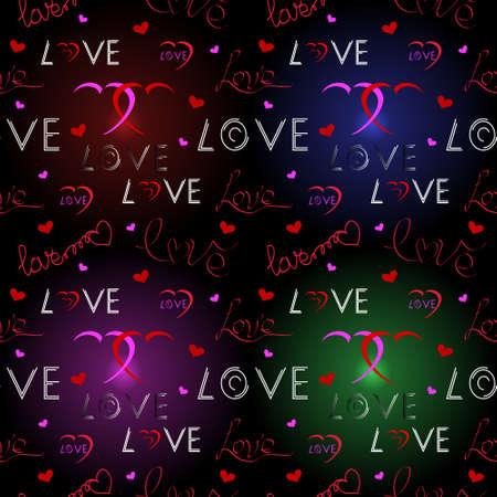 Love pattern. Valentines Day background. Vector illustration
