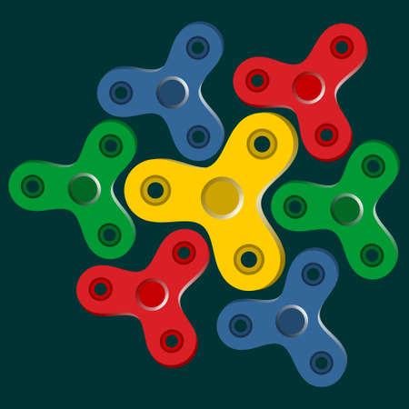 Spinners set. Vector illustration concept.