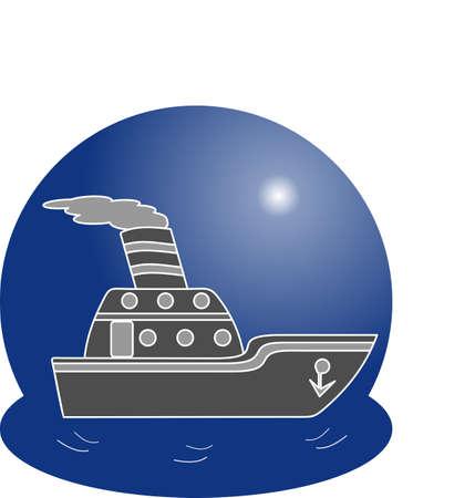 Ship logo. Vector illustration concept
