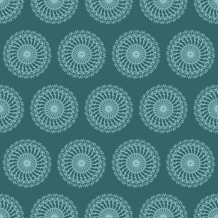 Seamless pattern with ornaments. Elements for design and decoration. Vector illustration.