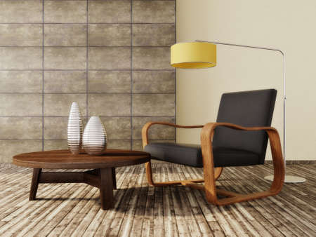 modern: modern interior room with nice furniture inside Stock Photo