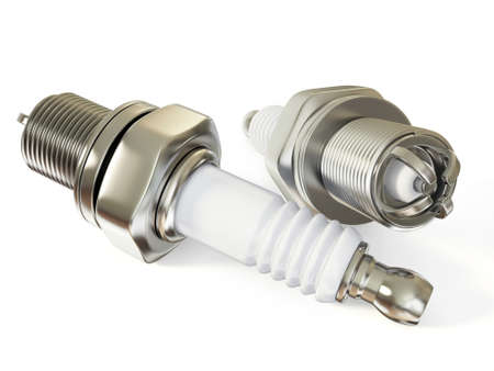 spare parts: spark-plug isolated on a white background isolated.