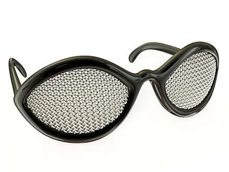 conceptual sunglasses isolated on a white background Stock Photo - 11712276