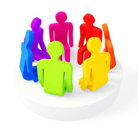 dialogo: la discusión de carácter aislado en un fondo blanco