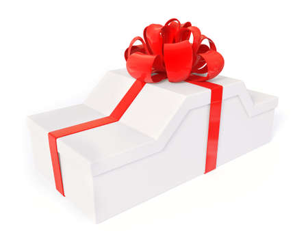 Gift box isolated on a white background. photo