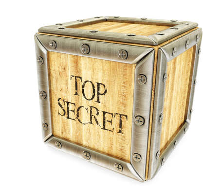 top secret: Conceptual 3d illustration on a isolated background. Stock Photo
