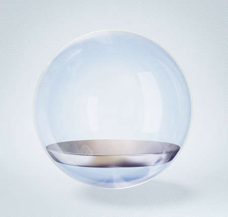 glass sphere isolated on a white background. photo