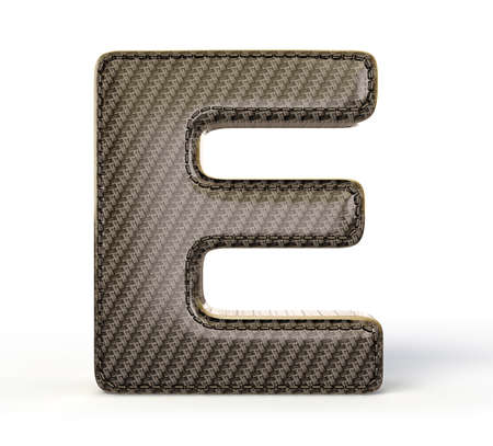 Carbon letter isolated on a white background. photo