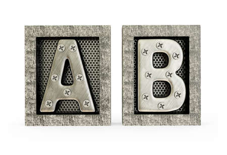 fonts 3d: Conceptual 3d illustration on a isolated background. Stock Photo