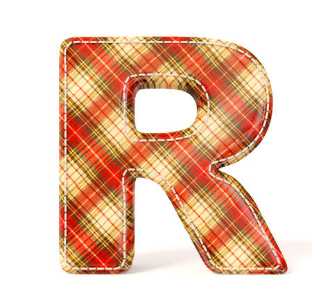 Textile letter isolated on a white background. photo
