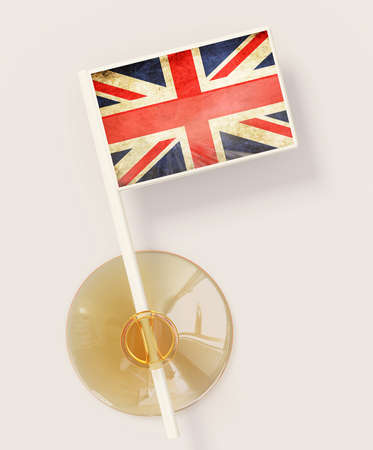 flag with a suction isolated on a white background Stock Photo - 13618569