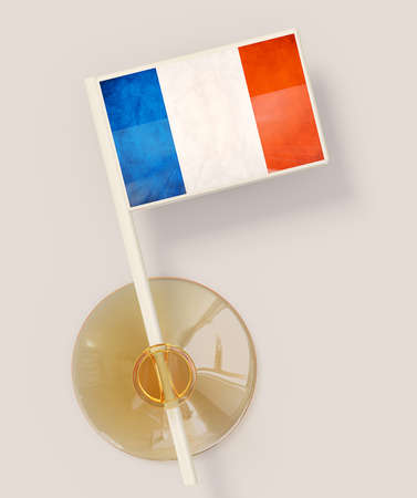 holder: flag with a suction isolated on a white background