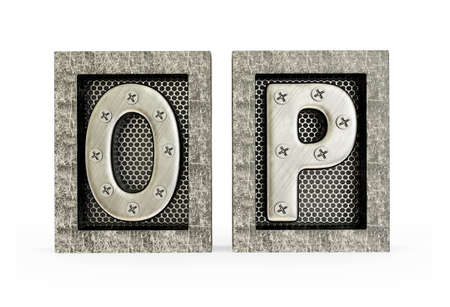 3d alphabet letter abc: Conceptual 3d illustration on a isolated background. Stock Photo