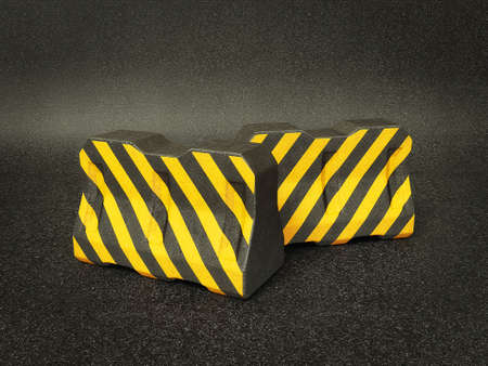 road closed: Conceptual 3d illustration on a isolated background. Stock Photo