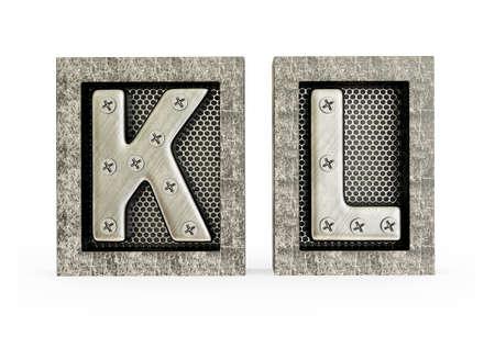 letras cromadas: Ilustración conceptual 3d sobre un fondo blanco.