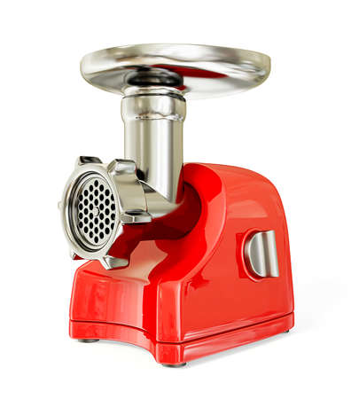 electric meat grinder isolated on a white. photo