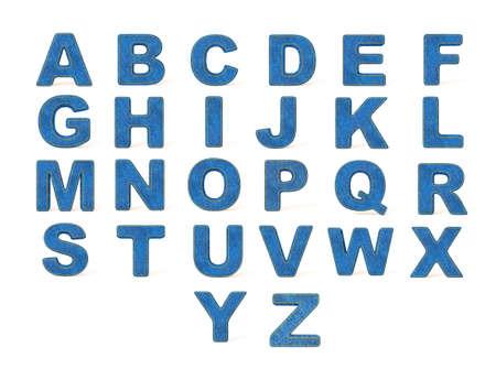 denim  alphabet  isolated on a white background. Stock Photo - 13894554