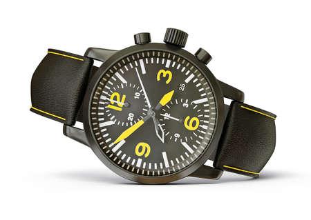 cronógrafo: relojes de lujo aislado en un fondo blanco