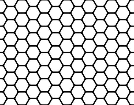 black honeycomb pattern isolated on a white photo