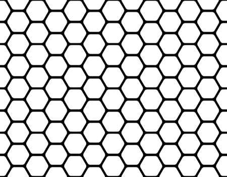 abejas panal: patrón de panal negro aislado en un blanco Foto de archivo