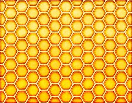 celula animal: color amarillo de fondo de nido de abeja. El estilo vintage con cero.