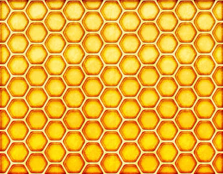 yellow honeycomb background. Vintage style with scratch. photo