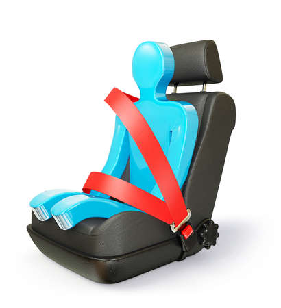 car seat: car chair isolated on a white background Stock Photo