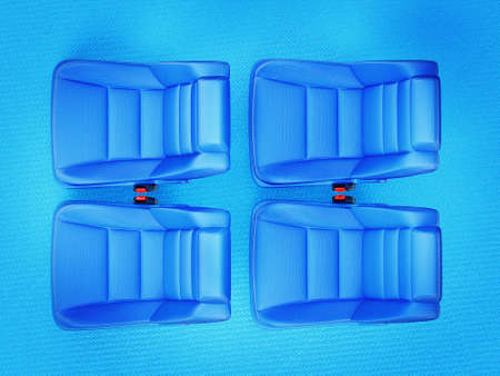 car chair isolated on a blue  background photo