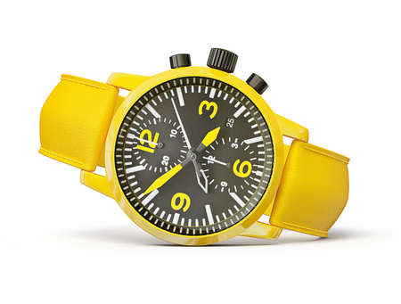chronograph: luxury watch isolated on a white background Stock Photo