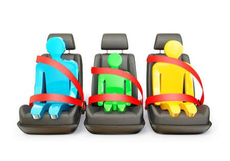 자동차 의자는 흰색 배경에 고립
