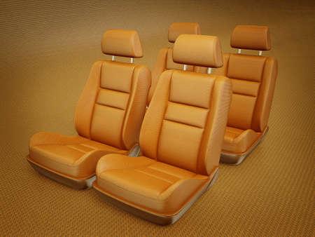 asiento coche: coche silla aislada sobre un fondo blanco