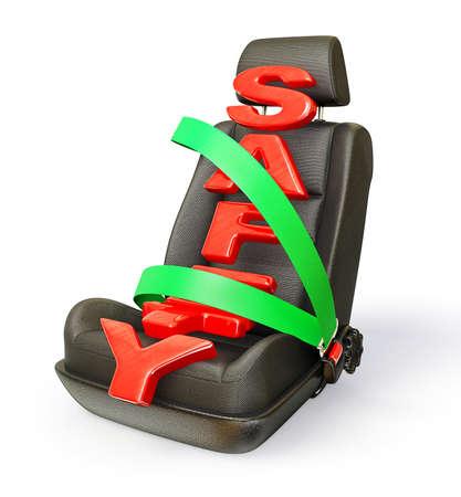 Auto Stuhl auf wei�em Hintergrund isoliert Lizenzfreie Bilder