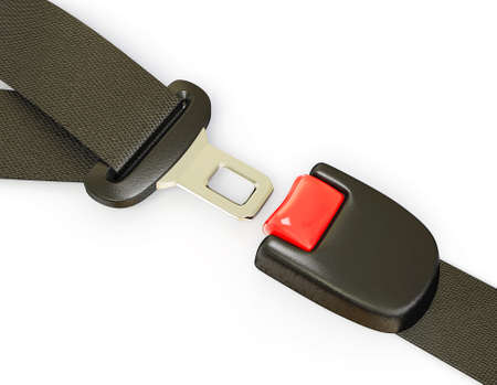 seat belt: auto seatbelt isolated on a white background