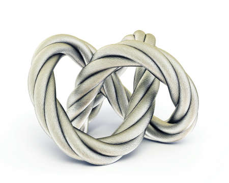 lead rope: steel rope isolated on a white background