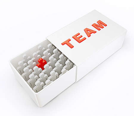 3d team isolated on a white background photo
