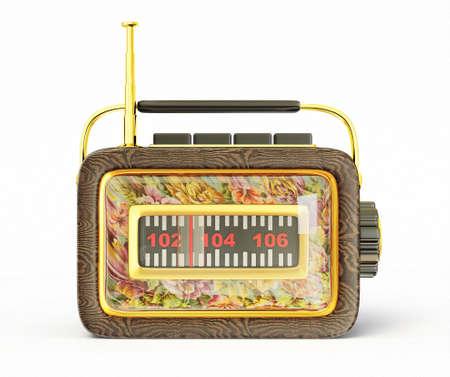 retro radio isolated on a white background photo