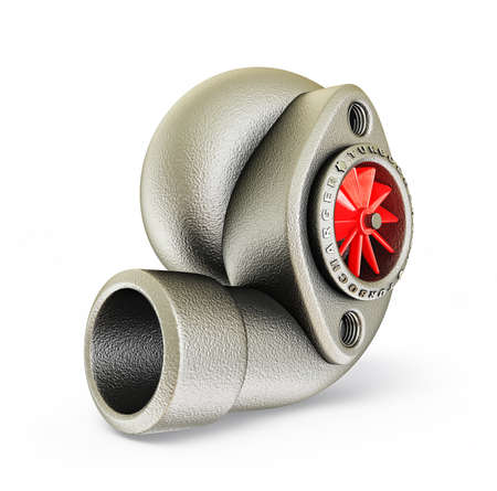 steel turbocharger isolated on a white background photo