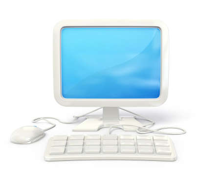 workstation: conceptual computer illustration isolated on a white background