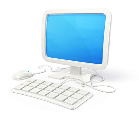 conceptual computer illustration isolated on a white background illustration
