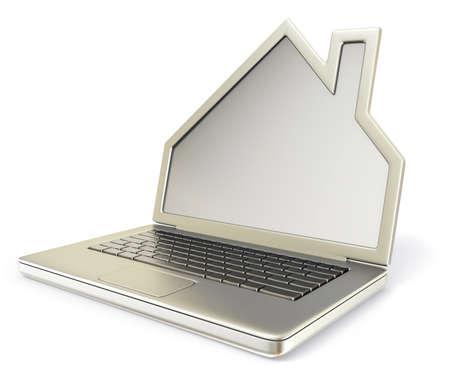 logements: objet conceptuel isol� sur un fond blanc Banque d'images